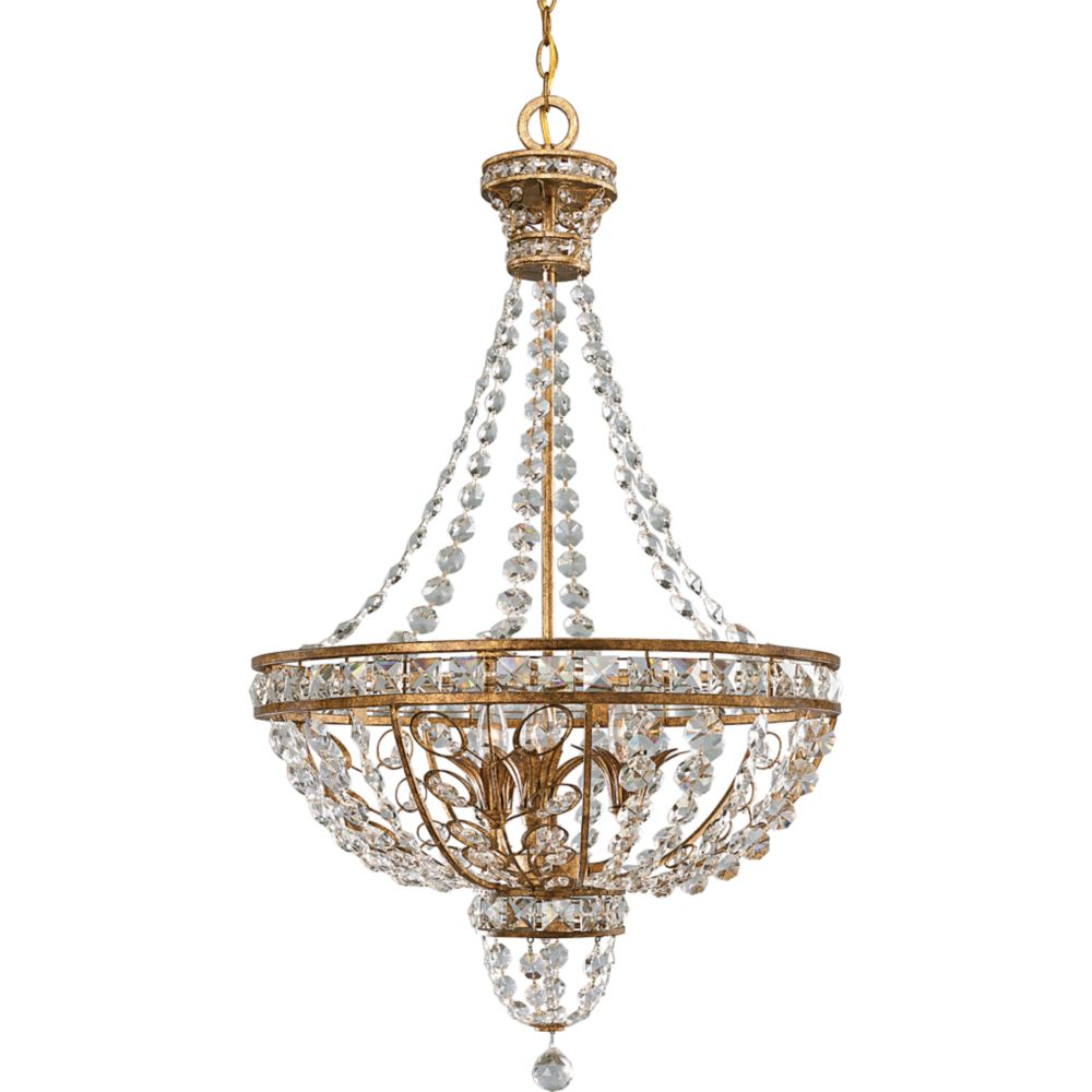 Palais Collection Imperial Gold 3-light Chandelier