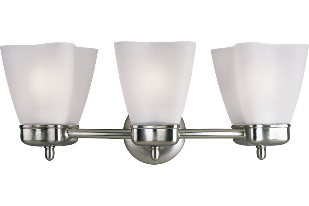 Michael Graves Collection Brushed Nickel 3-light Wall Bracket