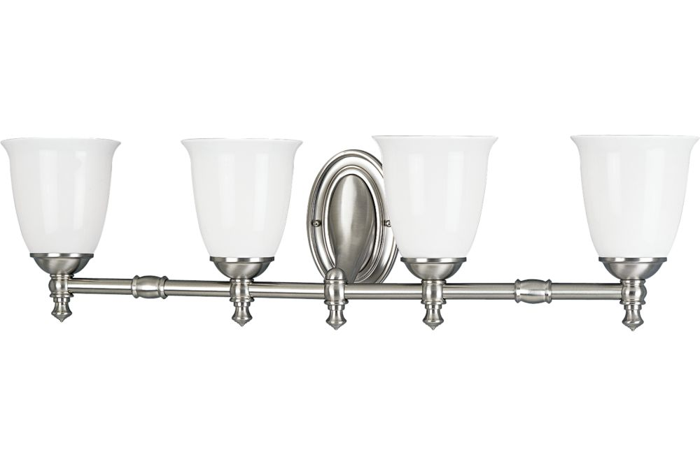 Victorian Collection Brushed Nickel 4-light Wall Bracket