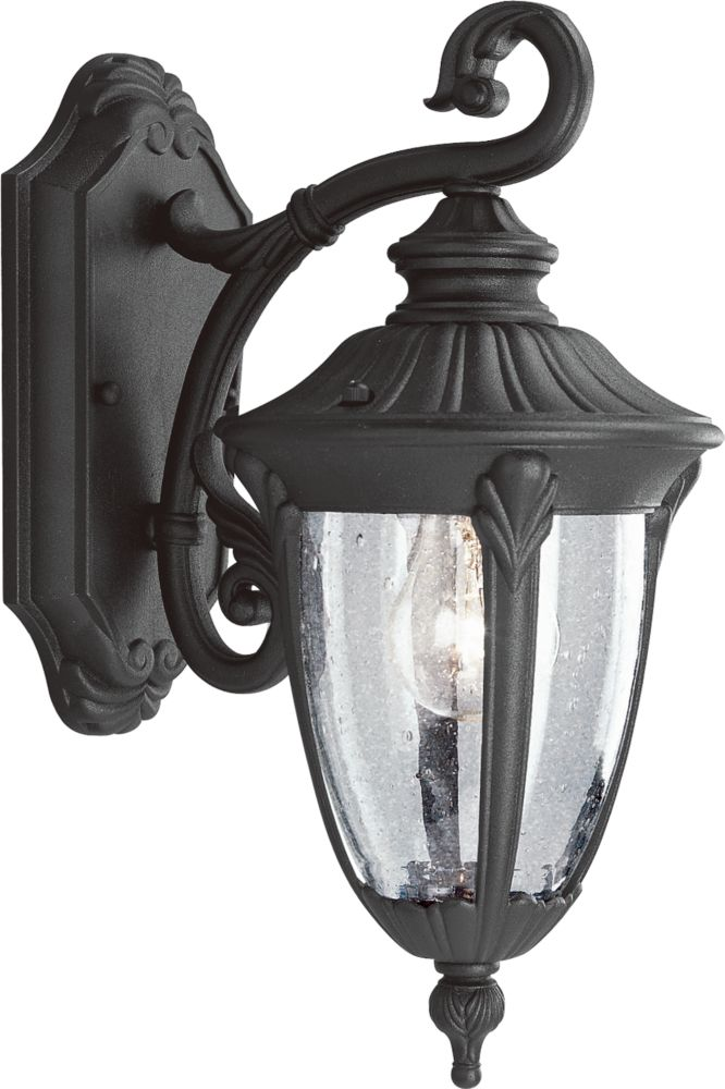 Meridian Collection Textured Black 1-light Wall Lantern