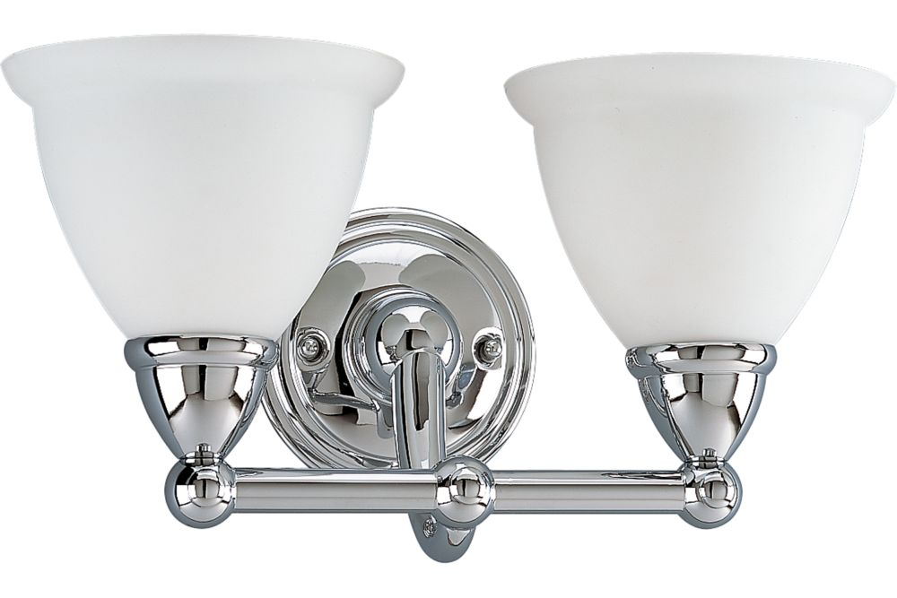 Botanical Collection Chrome 2-light Wall Bracket