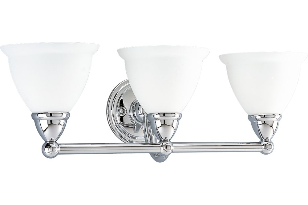 Botanical Collection Chrome 3-light Wall Bracket