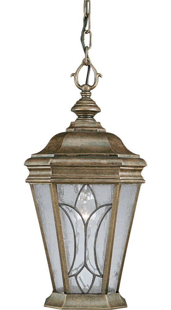 Cranbrook Collection Burnished Chestnut 1-light Hanging Lantern