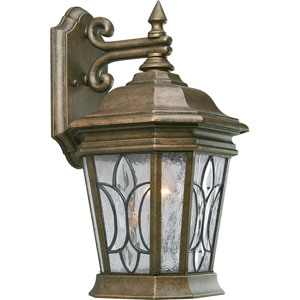 Cranbrook Collection Burnished Chestnut 1-light Wall Lantern