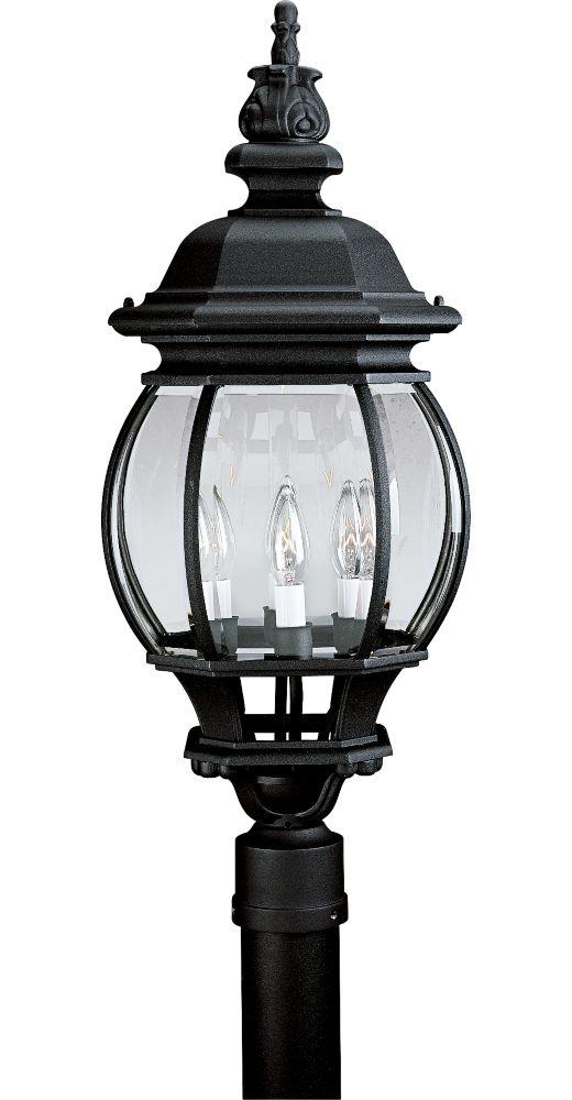 Onion Lantern Collection Textured Black 4-light Post Lantern