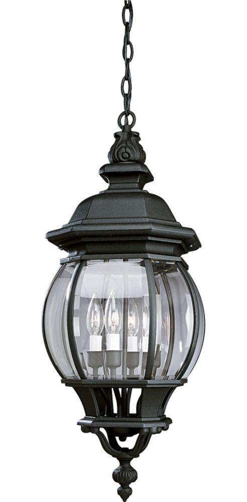 Onion Lantern Collection Textured Black 4-light Hanging Lantern