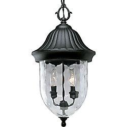 Progress Lighting Lanterne suspendue à 2 Lumières, Collection Coventry - fini Noir Texturé