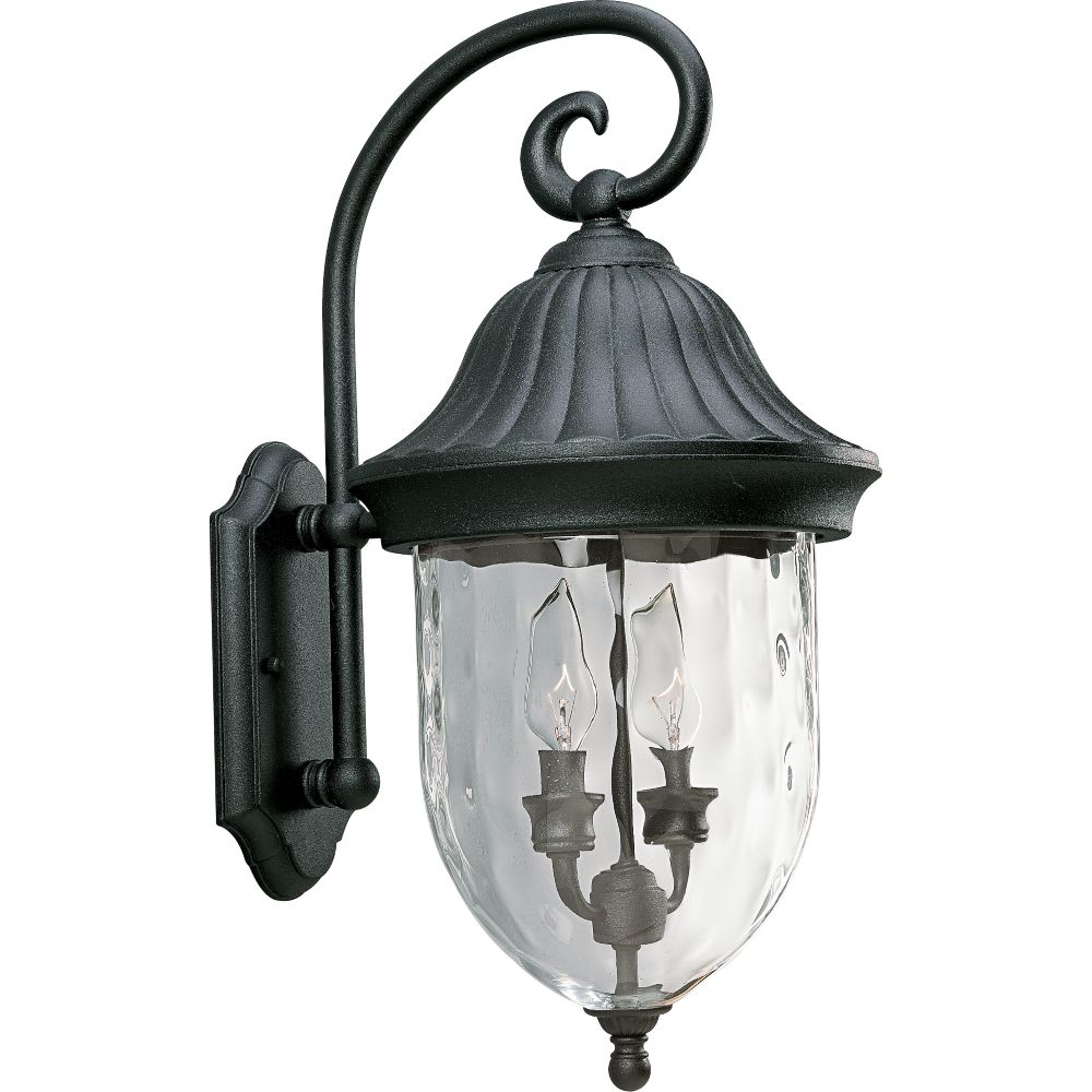 Coventry Collection Textured Black 2-light Wall Lantern