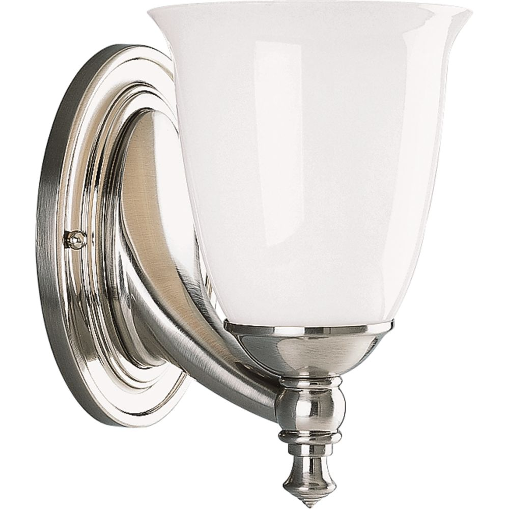 Victorian Collection Brushed Nickel 1-light Wall Bracket