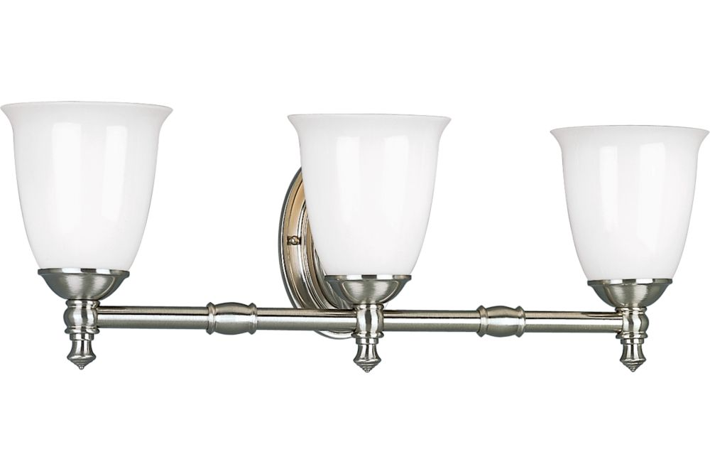 Victorian Collection Brushed Nickel 3-light Wall Bracket
