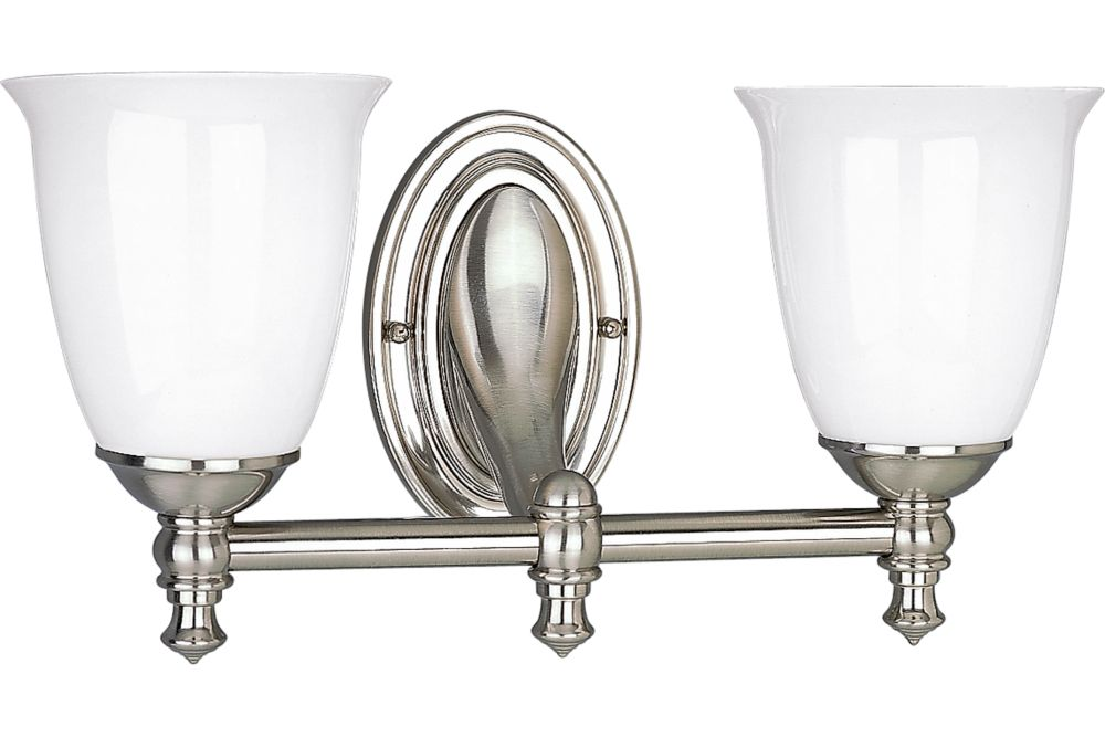 Victorian Collection Brushed Nickel 2-light Wall Bracket