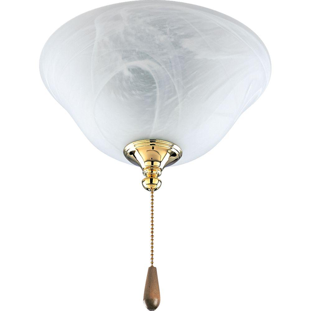 AirPro Polished Brass 2-light Ceiling Fan Light