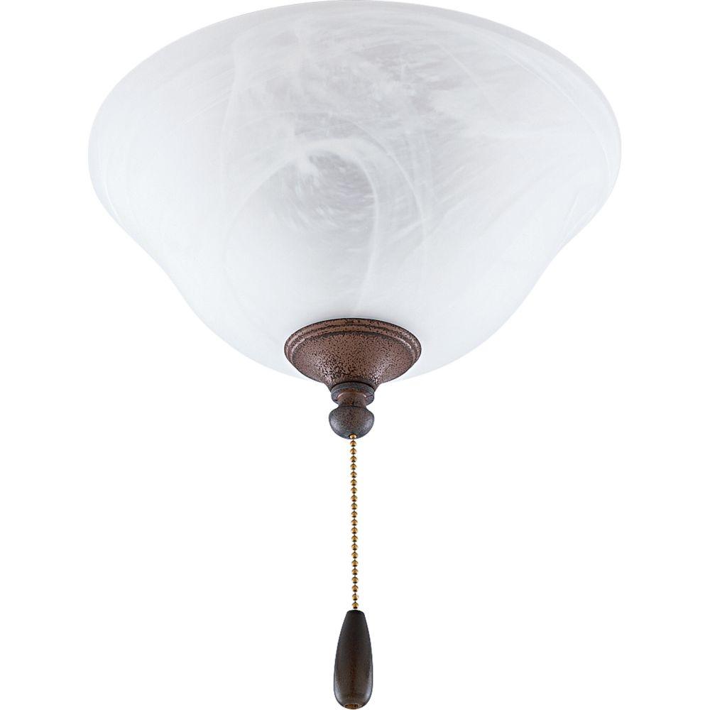Luminaire de ventilateur de plafond à 2 Lumières, Collection AirPro - fini Granit