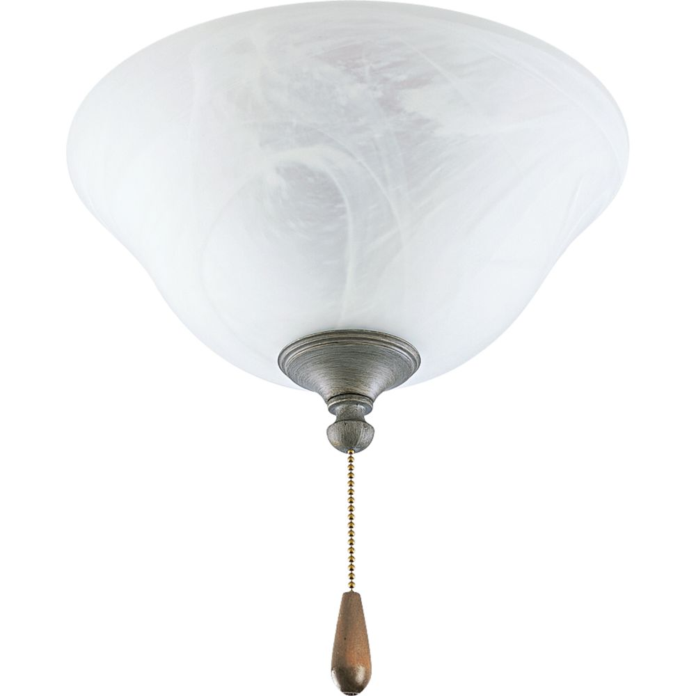AirPro Oxford Silver 2-light Ceiling Fan Light