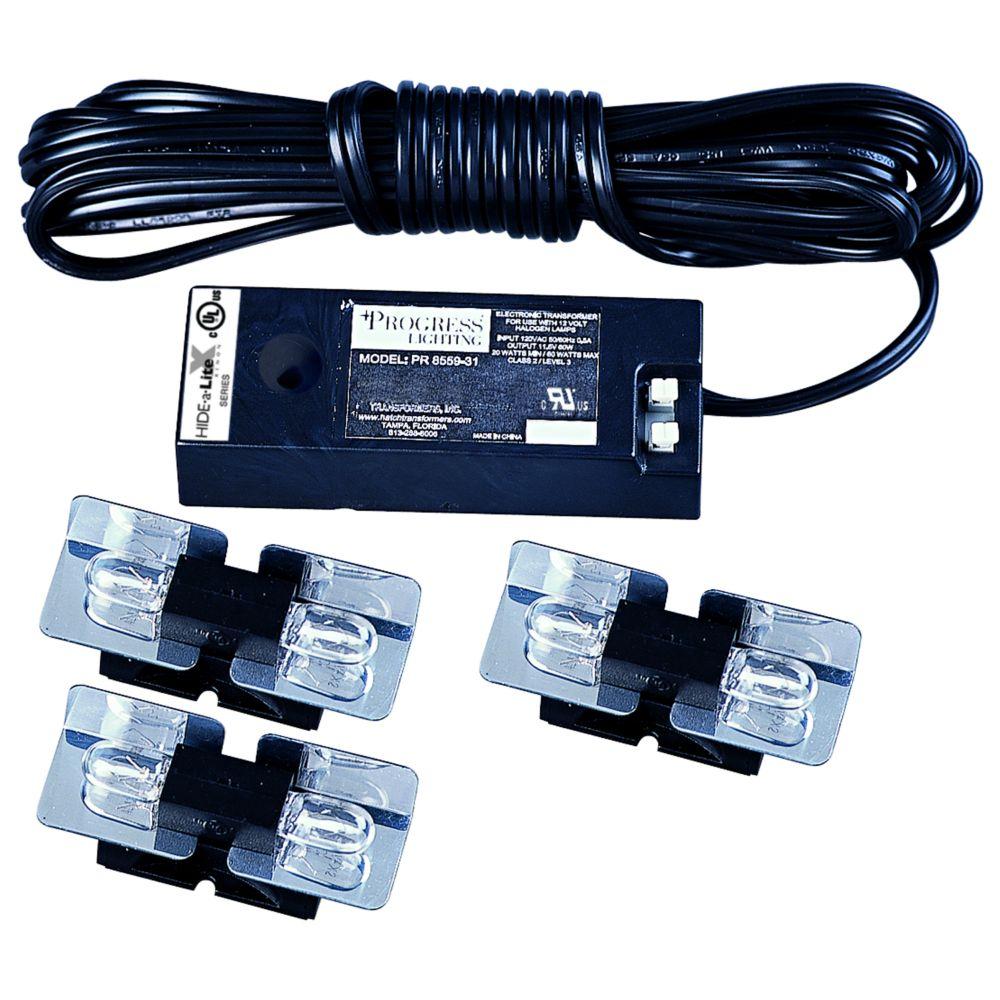 Hide-a-Lite Xenon Black 6-light Undercabinet Fixture
