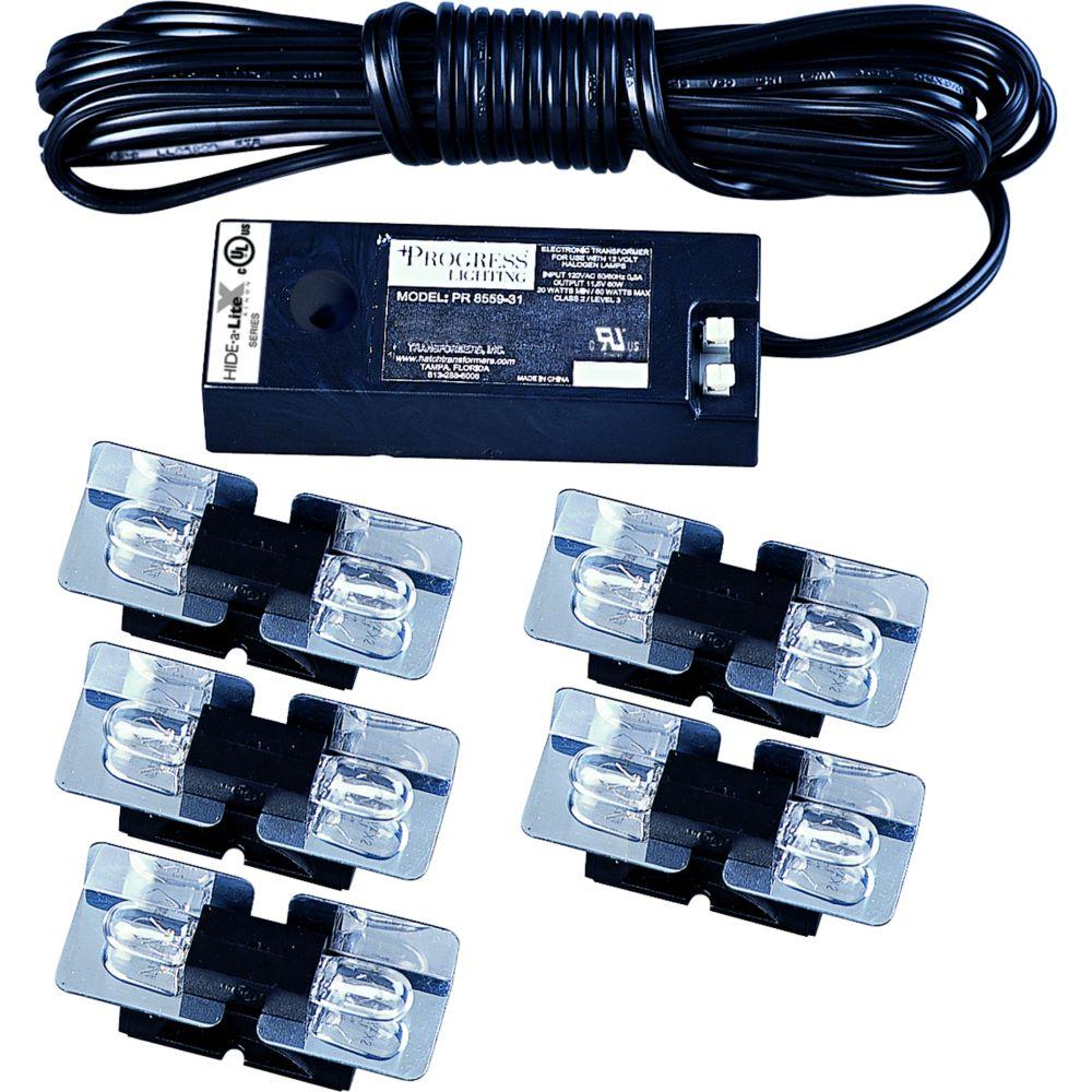 Hide-a-Lite Xenon Black 10-light Undercabinet Fixture
