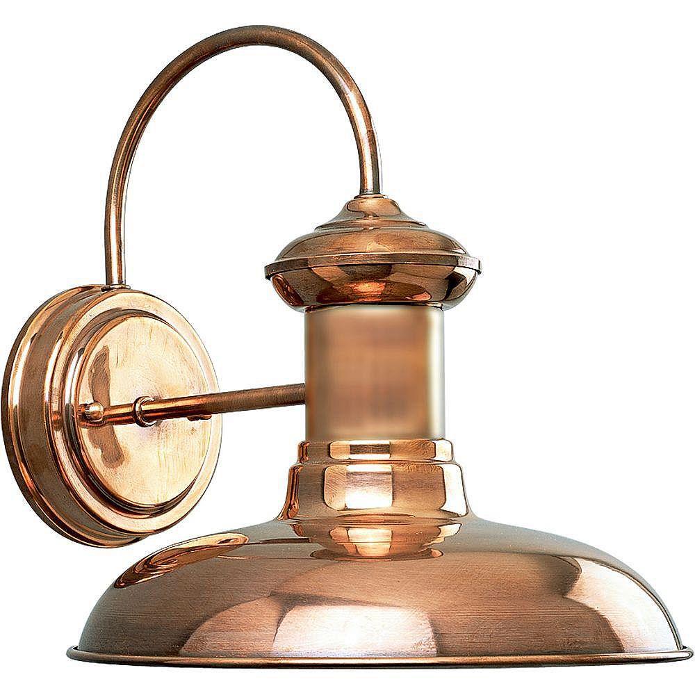 Progress Lighting Brookside Collection Copper 1-light Wall Lantern