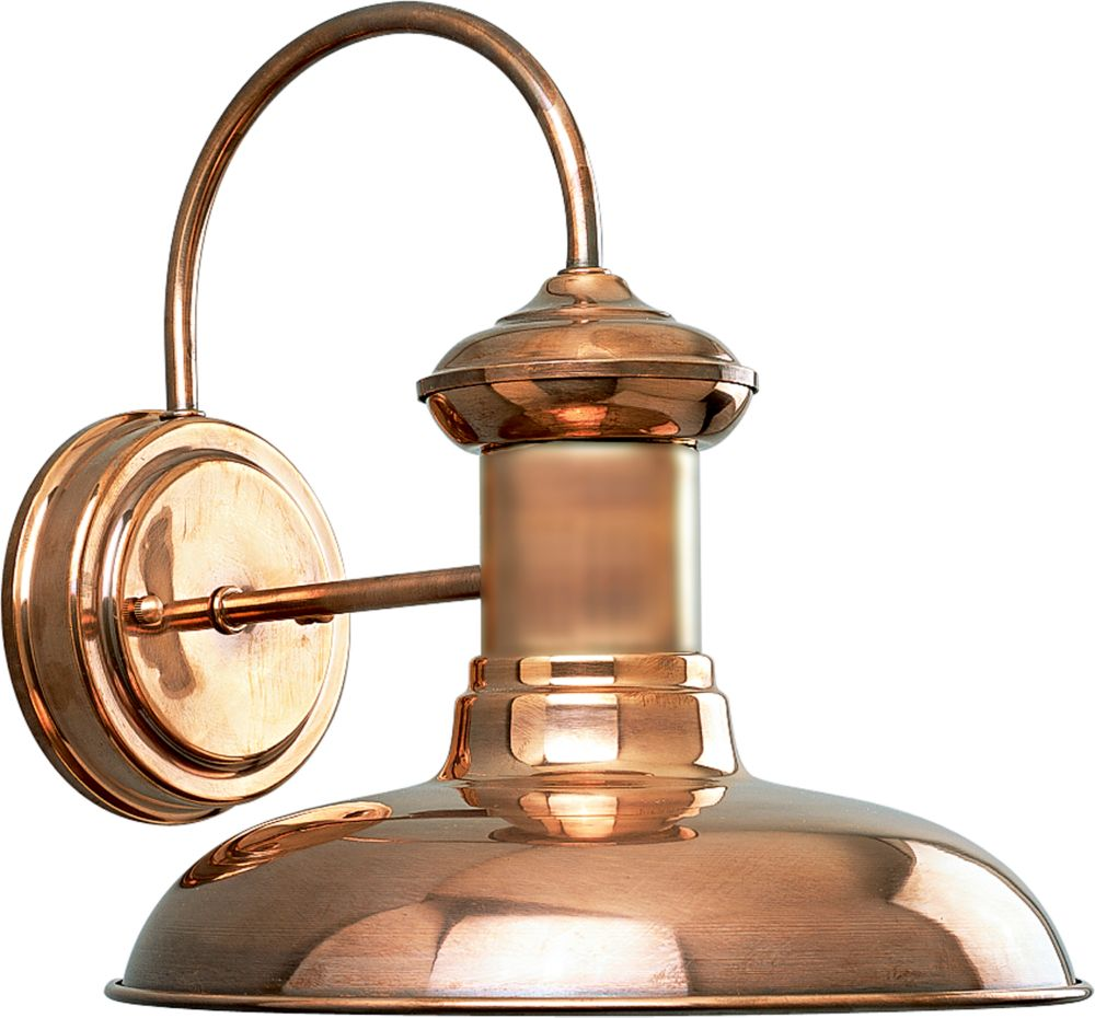 Brookside Collection Copper 1-light Wall Lantern