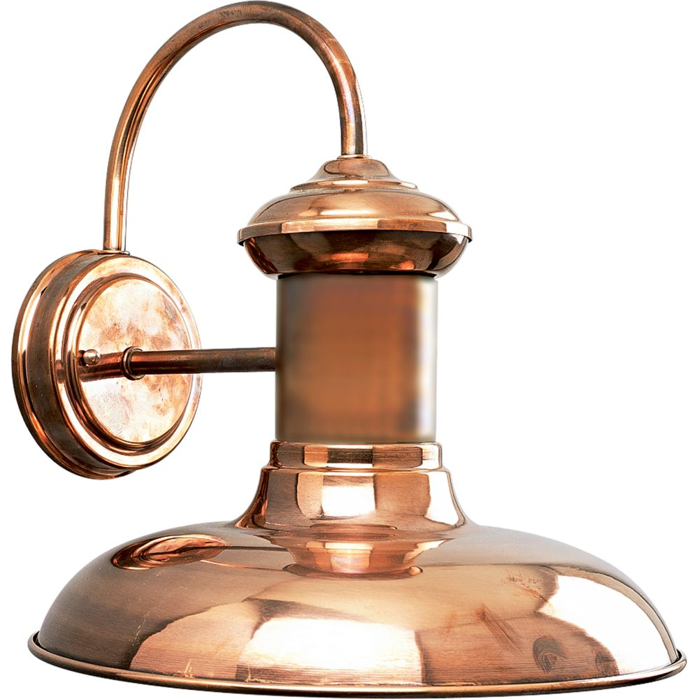Wall Copper Lantern : Progress Lighting Brookside Collection Copper 1-light Wall Lantern The Home Depot Canada