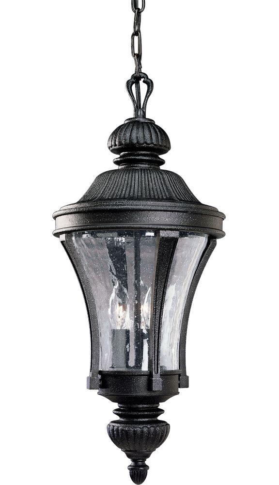 Lanterne suspendue à 3 Lumières, Collection Nottington - fini Fer Doré