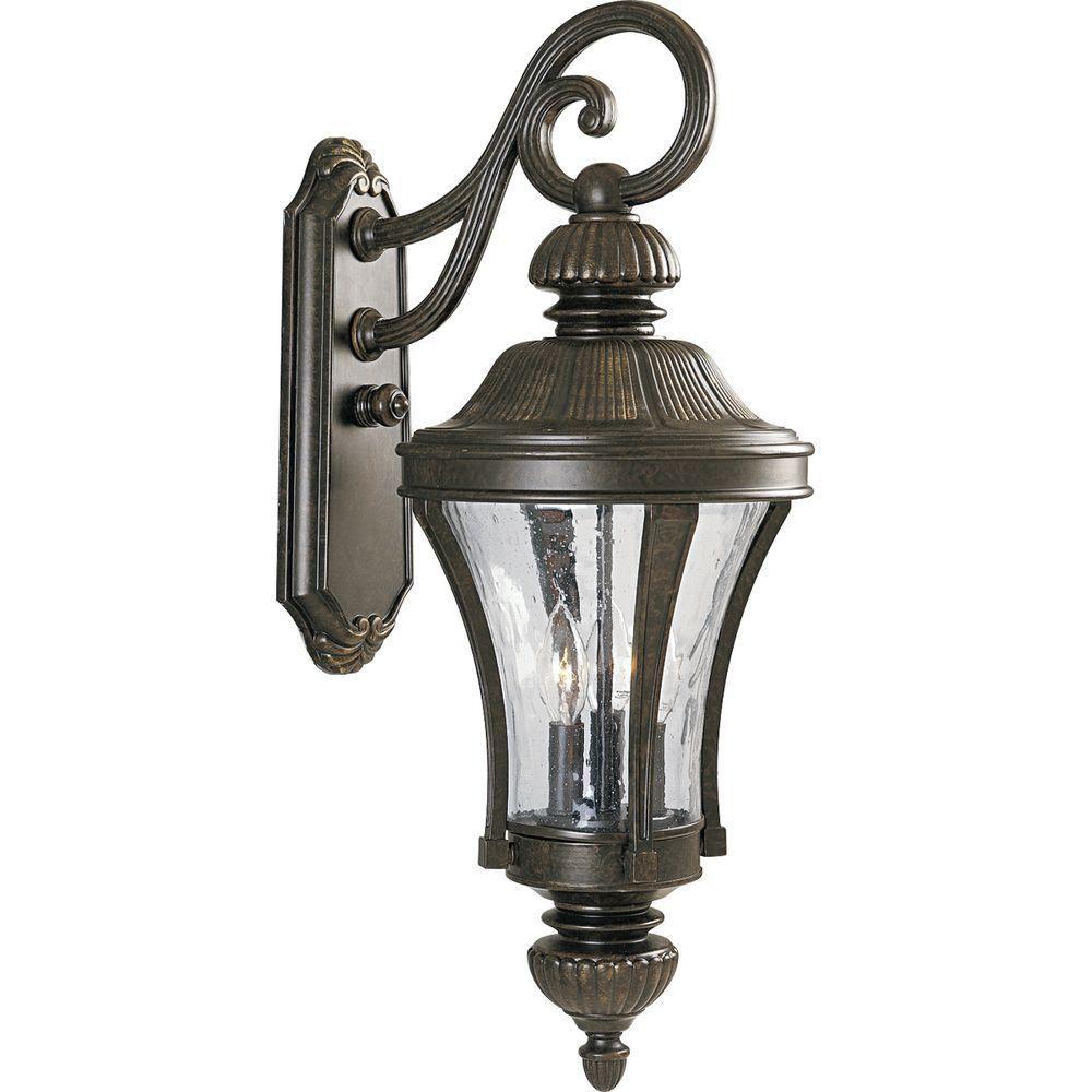 Progress Lighting Nottington Collection Forged Bronze 3-light Wall Lantern