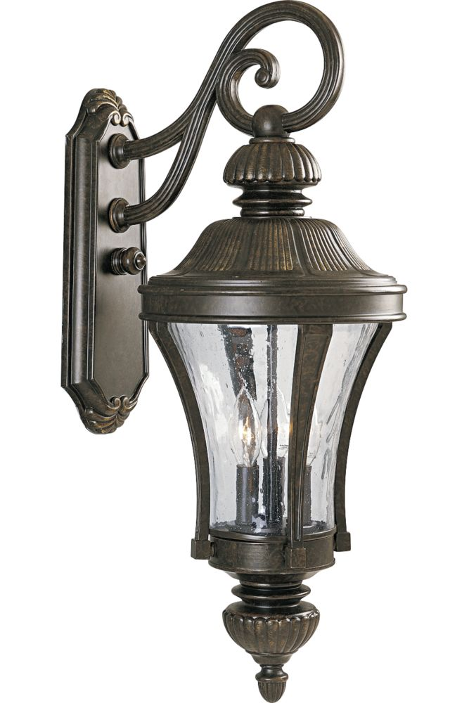 Nottington Collection Forged Bronze 3-light Wall Lantern 7.85247E 11 Canada Discount