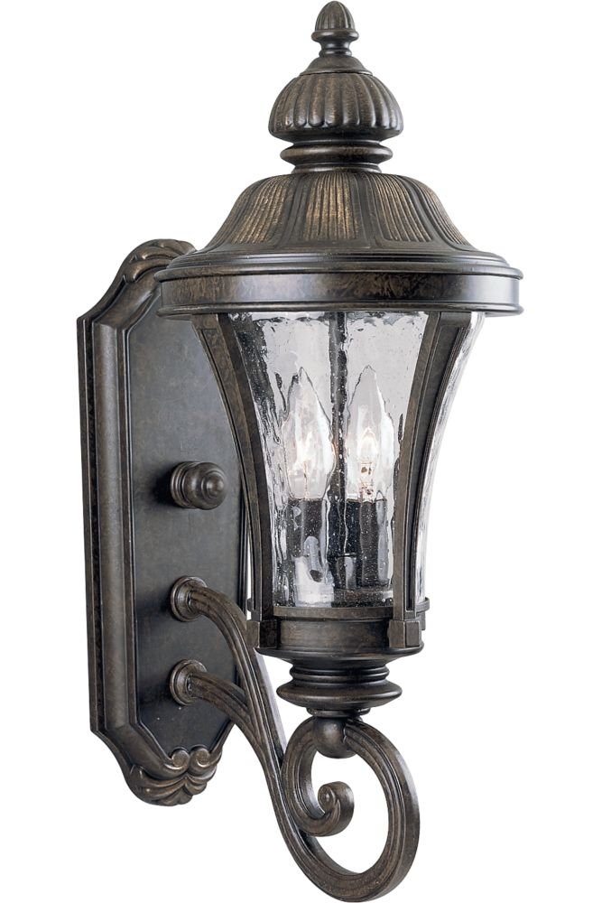 Nottington Collection Forged Bronze 2-light Wall Lantern
