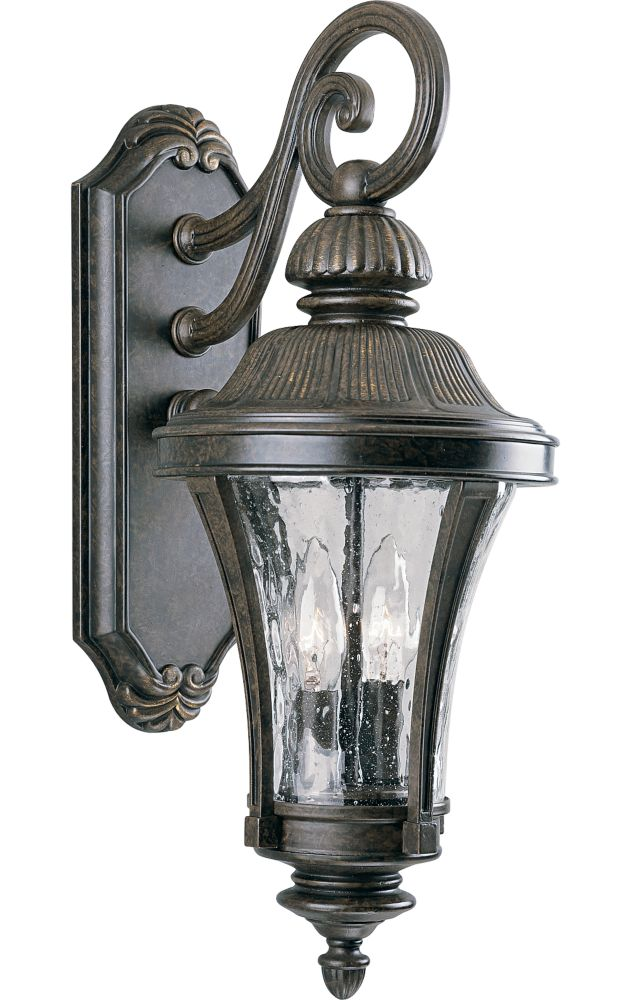 Nottington Collection Forged Bronze 2-light Wall Lantern
