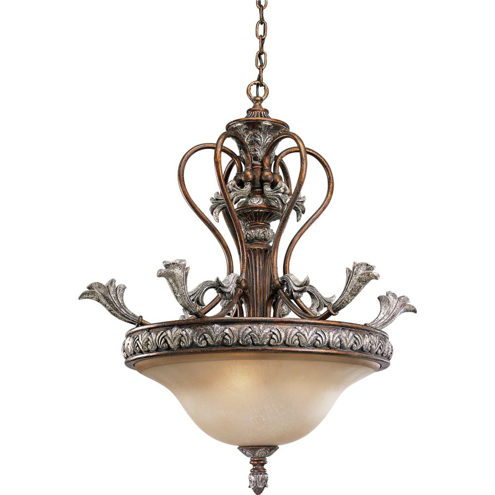 Carmel Collection Tuscany Crackle 3-light Chandelier