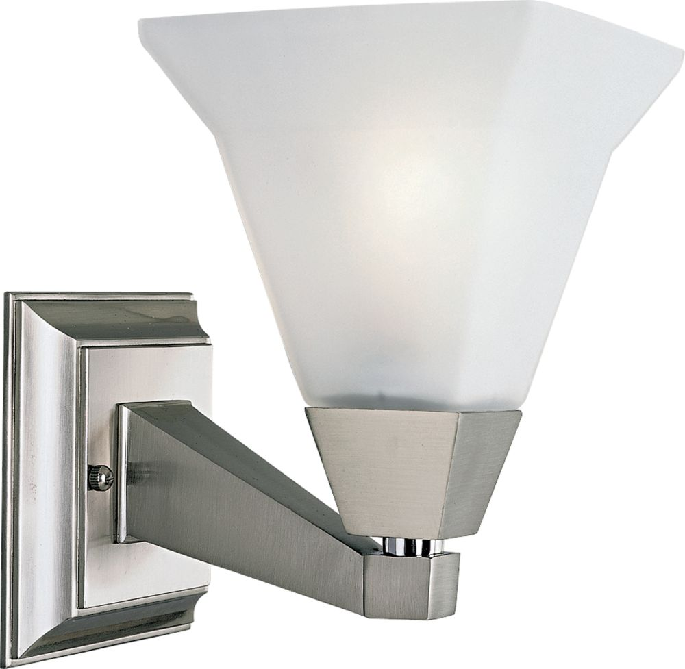 Glenmont Collection Brushed Nickel 1-light Wall Bracket