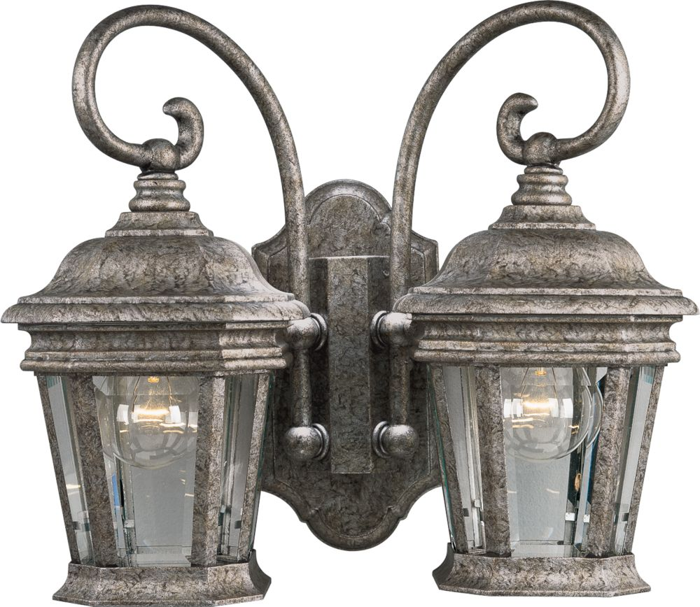 Crawford Golden Baroque Outdoor Wall Lantern with Clear Glass