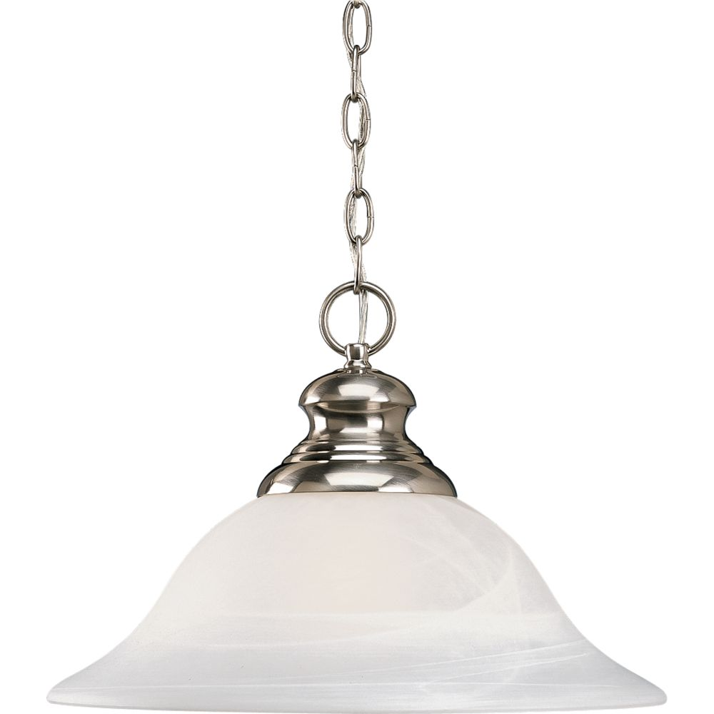 Bedford Collection Brushed Nickel 1-light Pendant