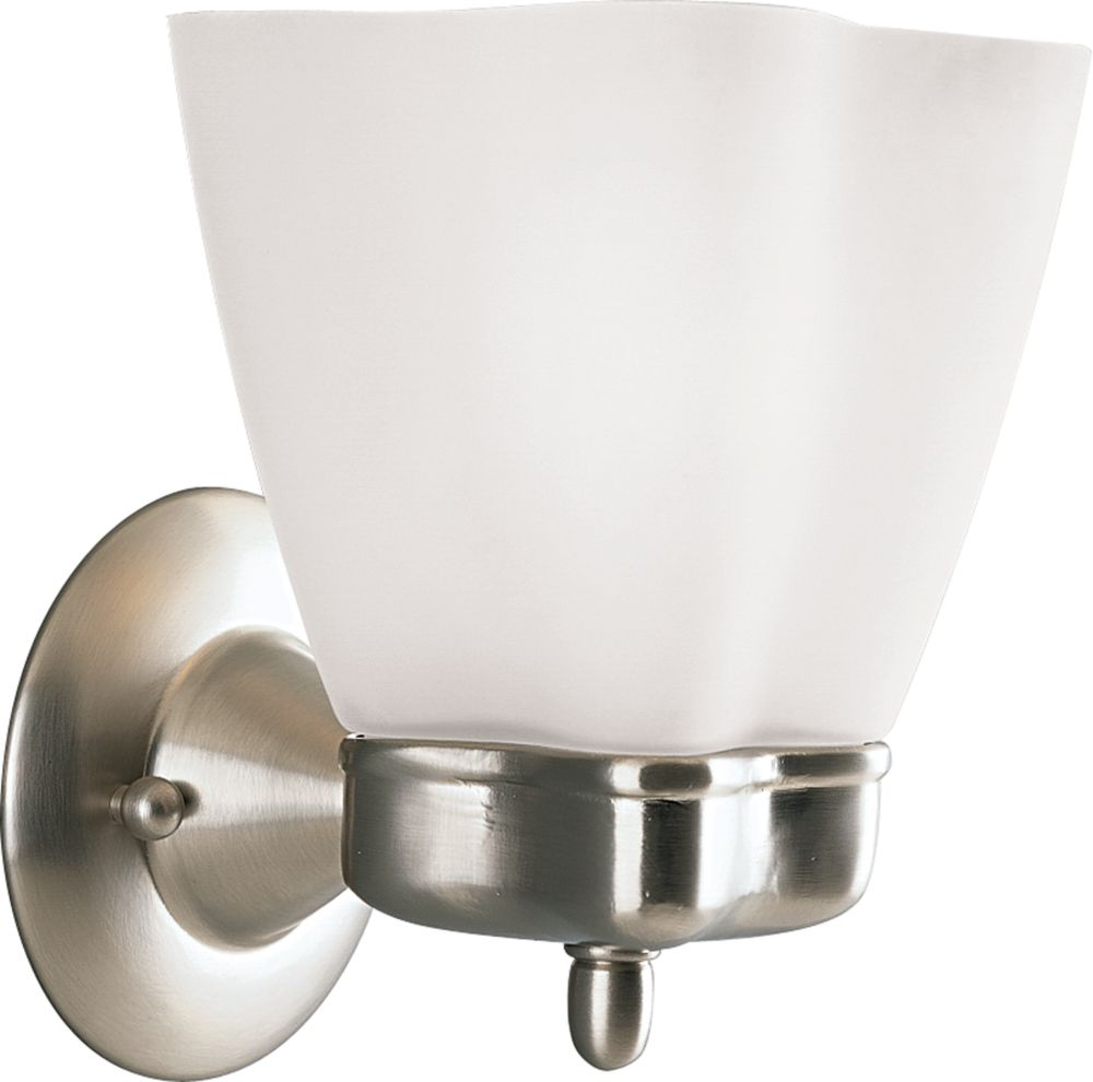 Michael Graves Collection Brushed Nickel 1-light Wall Bracket