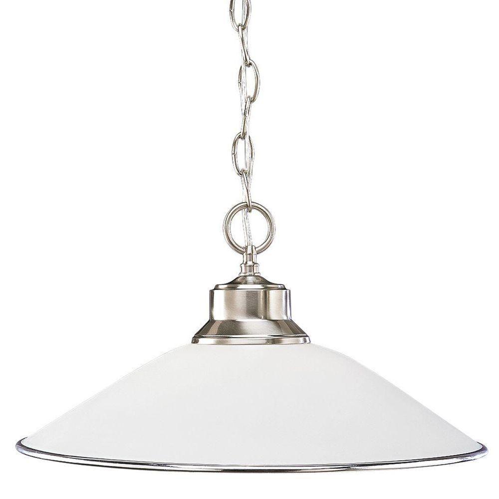 Progress Lighting Merci 3-Light Brushed Nickel Opal Glass Semi-Flush Mount