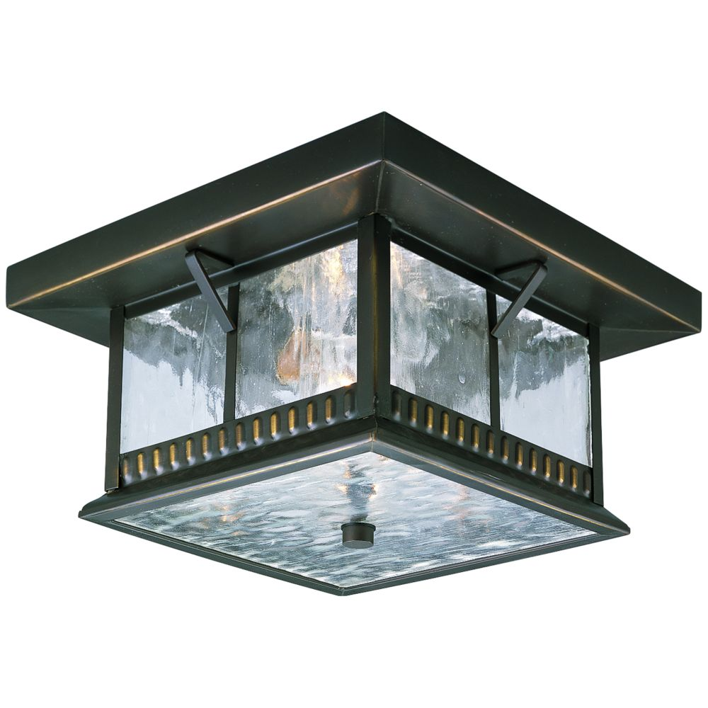 Aberdeen Collection Antique Bronze 2-light Outdoor Flushmount