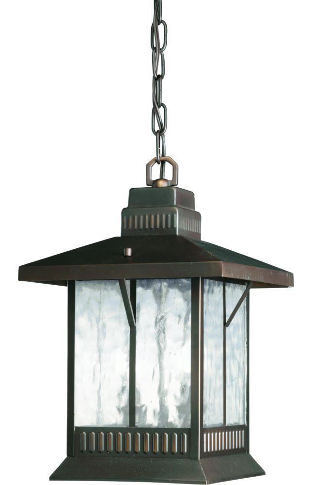 Lanterne suspendue à 2 Lumières, Collection Aberdeen - fini Bronze à l'Ancienne