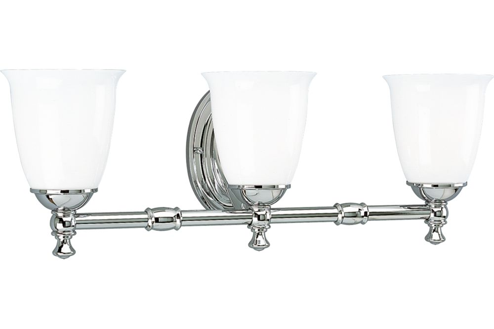 Victorian Collection Chrome 3-light Wall Bracket
