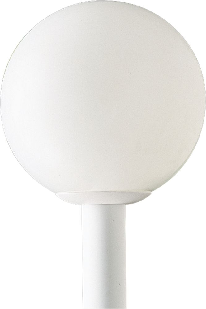 Globe Collection White 1-light Post Lantern