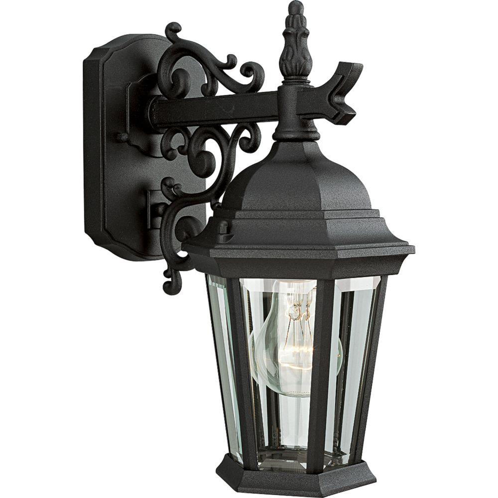 Welbourne Collection Textured Black 1-light Wall Lantern