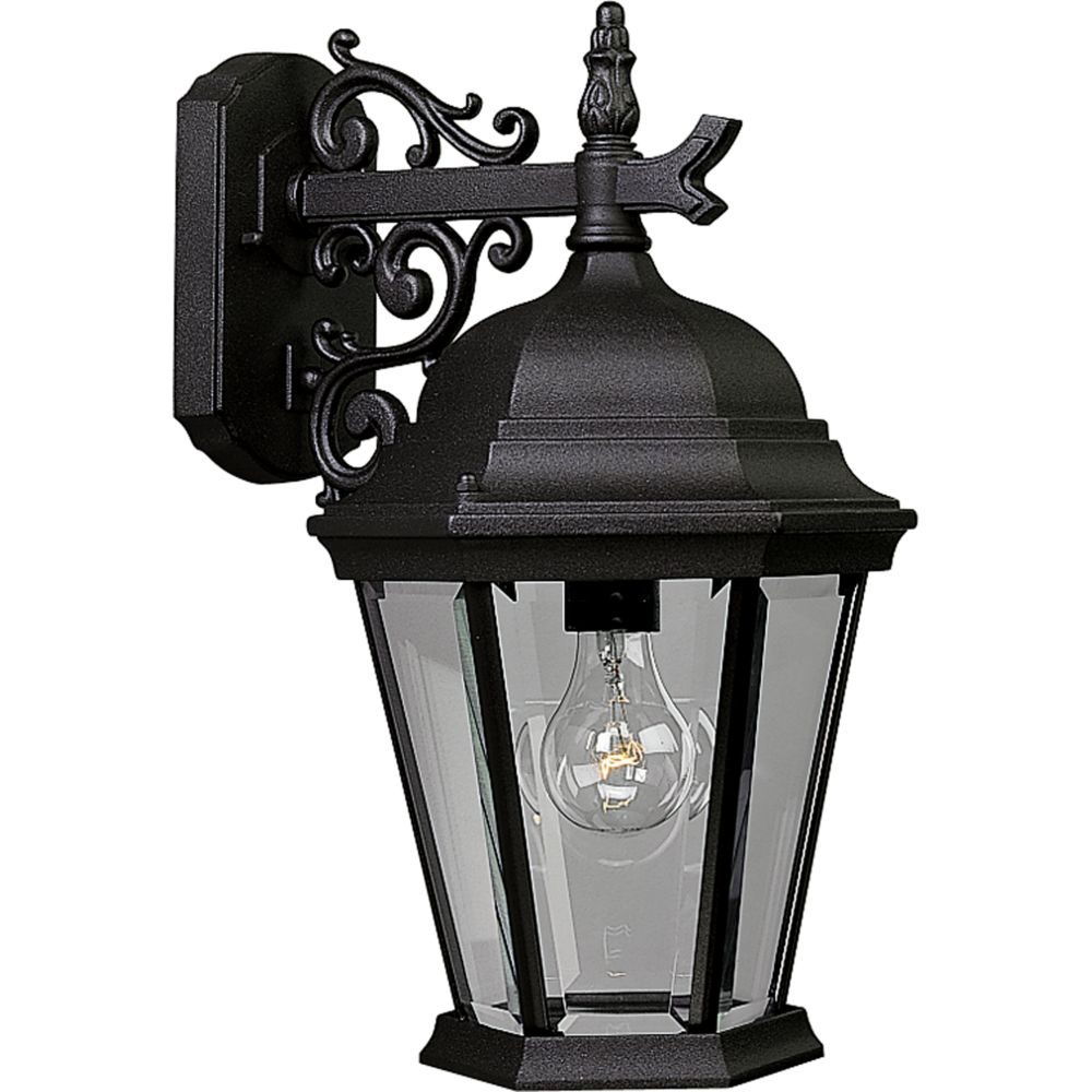 Welbourne Collection Textured Black 1-light Wall Lantern