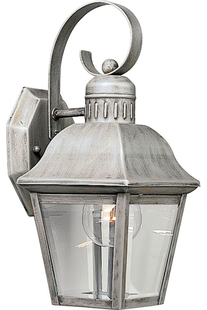 Lanterne murale à 1 Lumière, Collection Andover - fini Gris Argenté