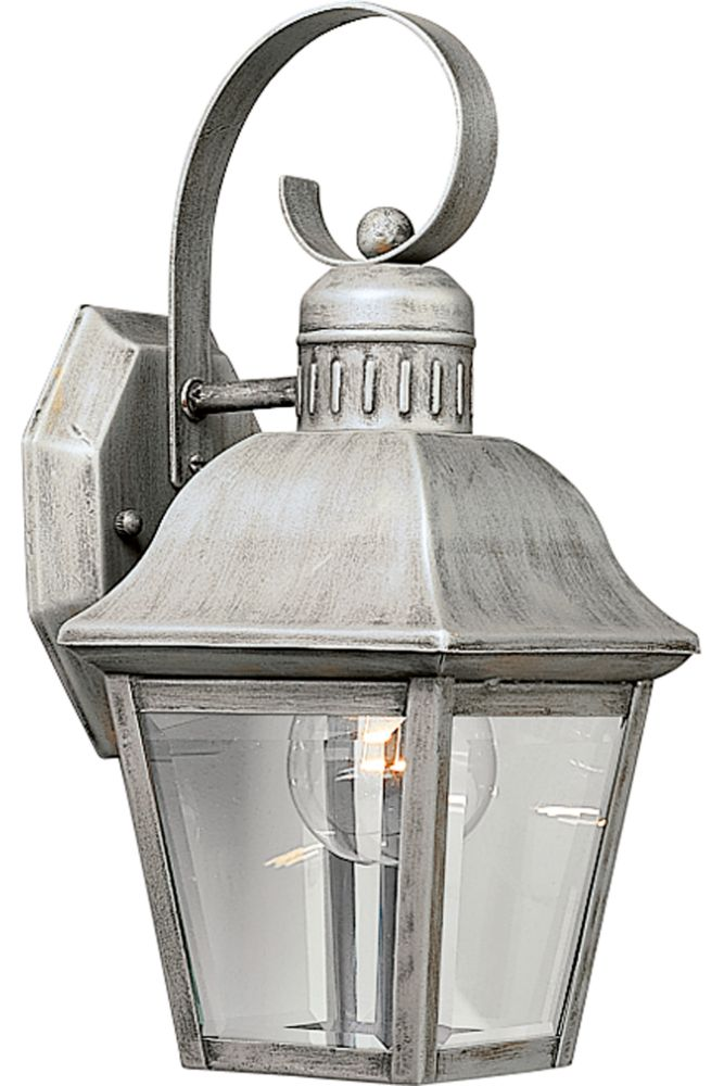 Andover Collection Oxford Silver 1-light Wall Lantern