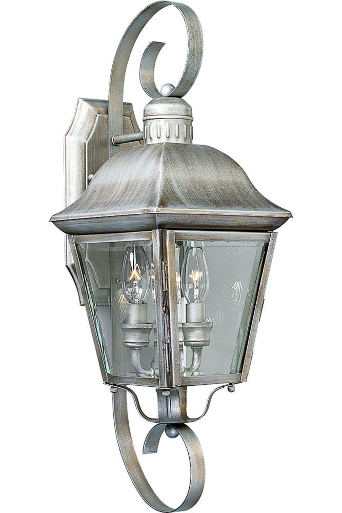 Andover Collection Oxford Silver 2-light Wall Lantern