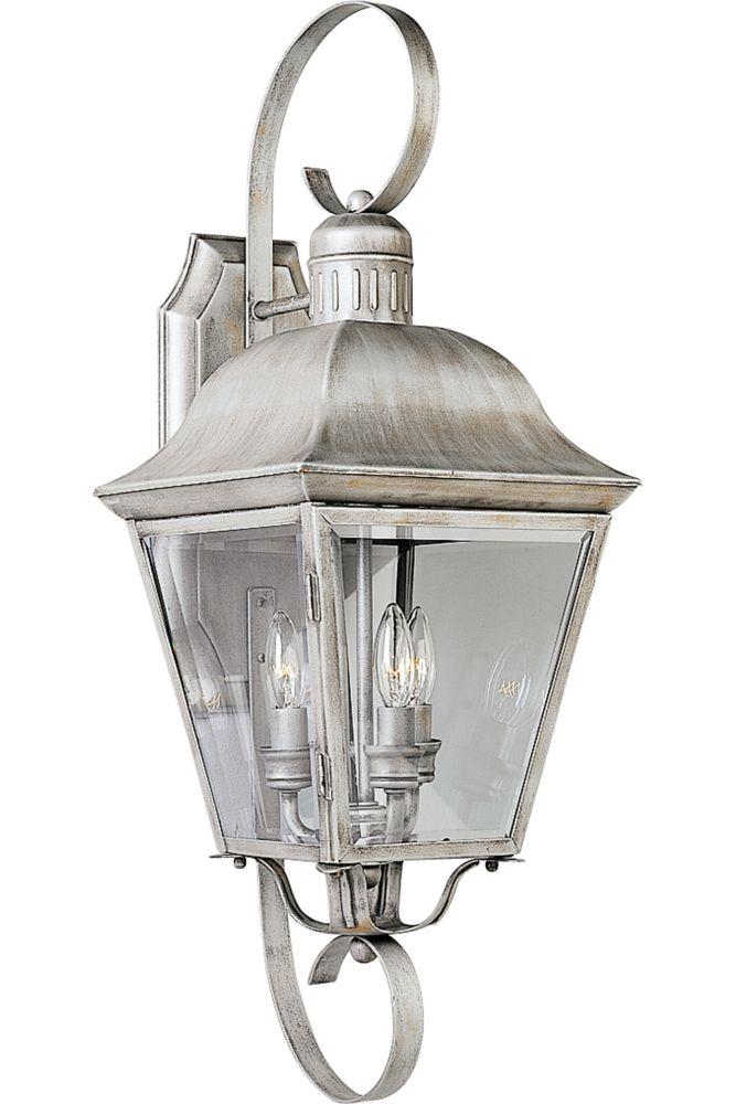 Andover Collection Oxford Silver 3-light Wall Lantern