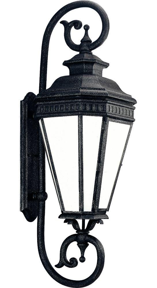Georgian Collection Gilded Iron 1-light Wall Lantern