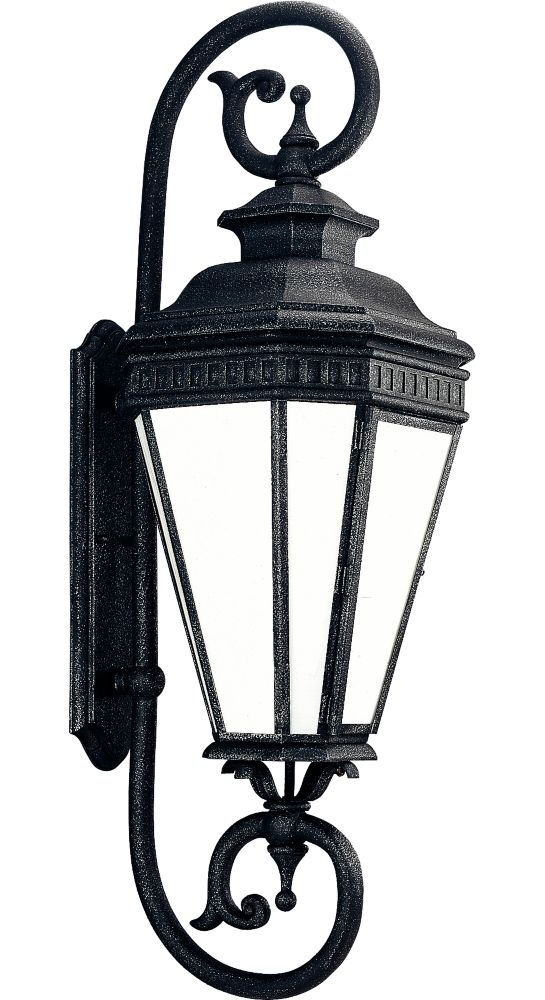 Georgian Collection Gilded Iron 1-light Wall Lantern