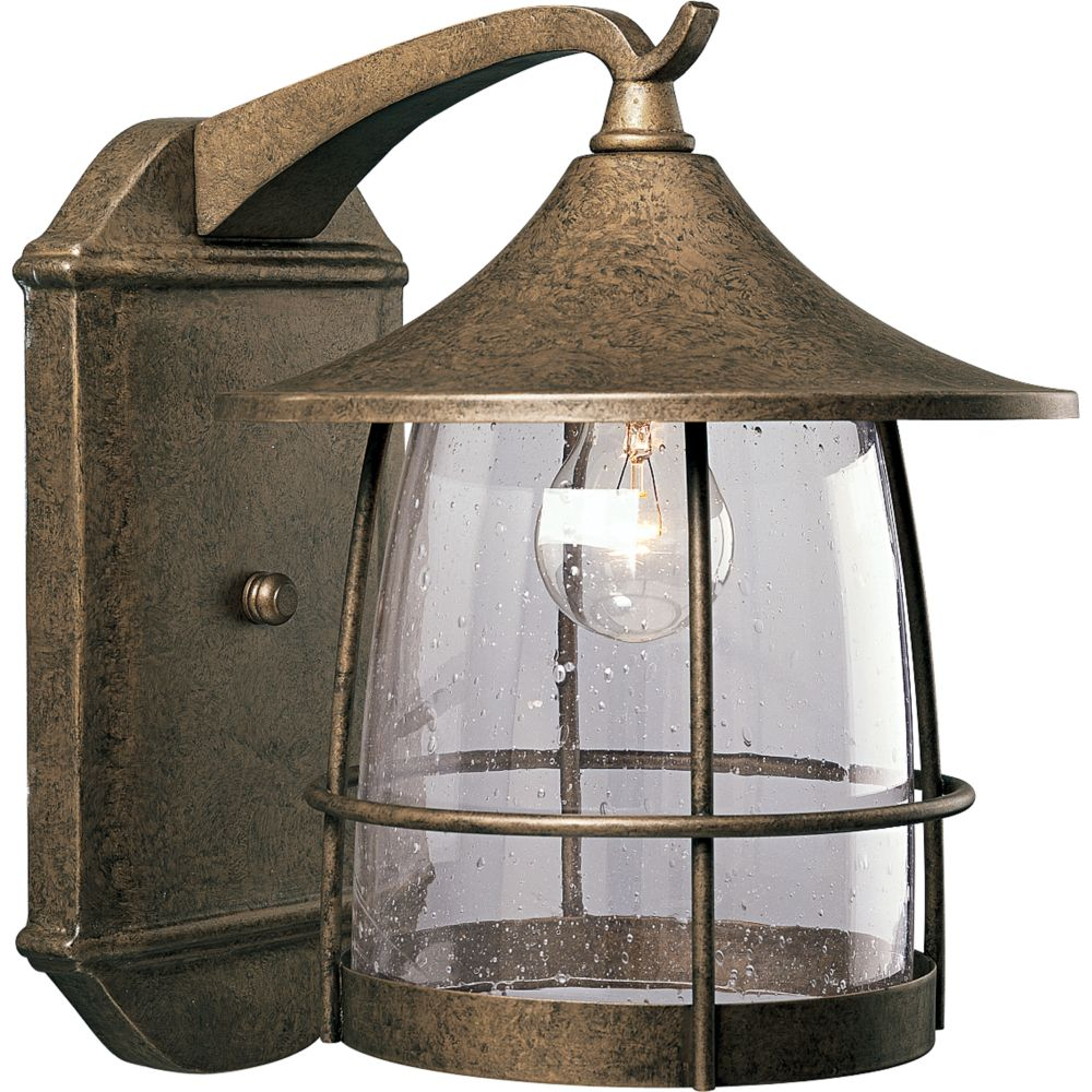 Prairie Collection Burnished Chestnut 1-light Wall Lantern