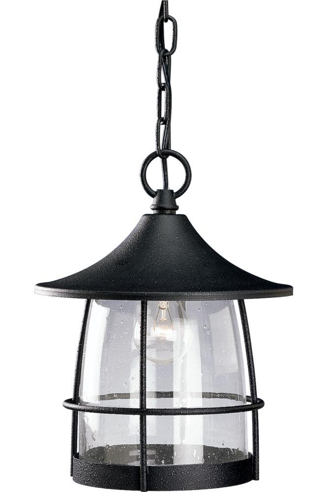 Lanterne suspendue à 1 Lumière, Collection Prairie - fini Fer Doré