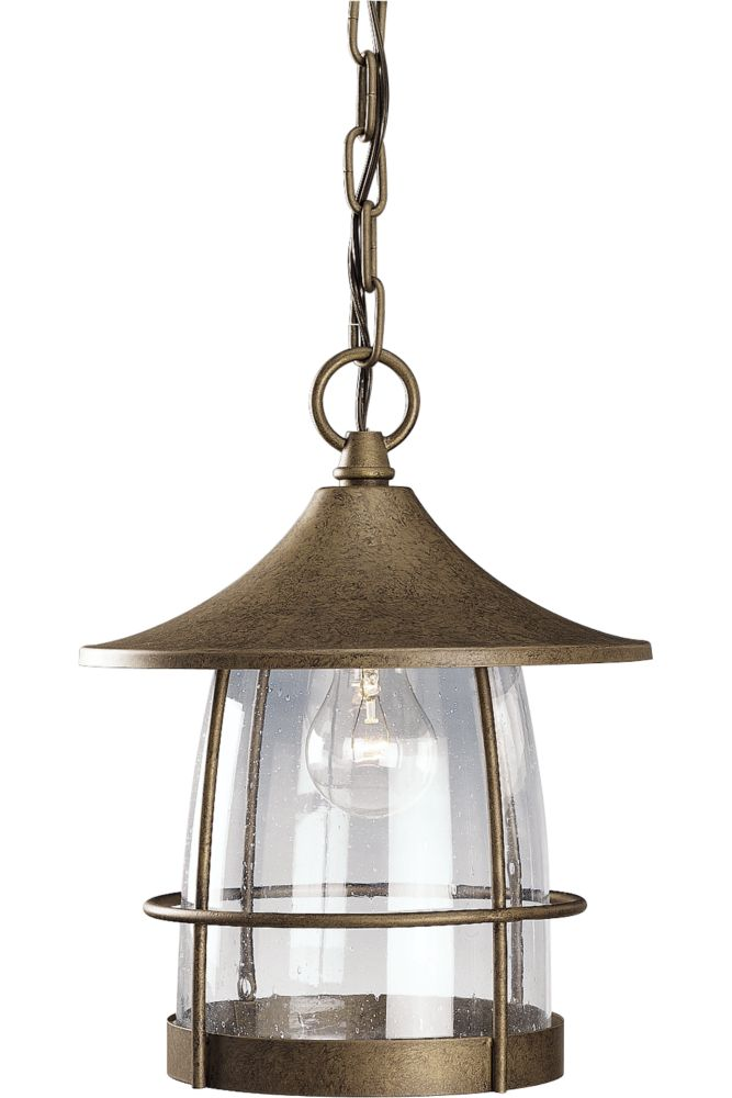 Prairie Collection Burnished Chestnut 1-light Hanging Lantern