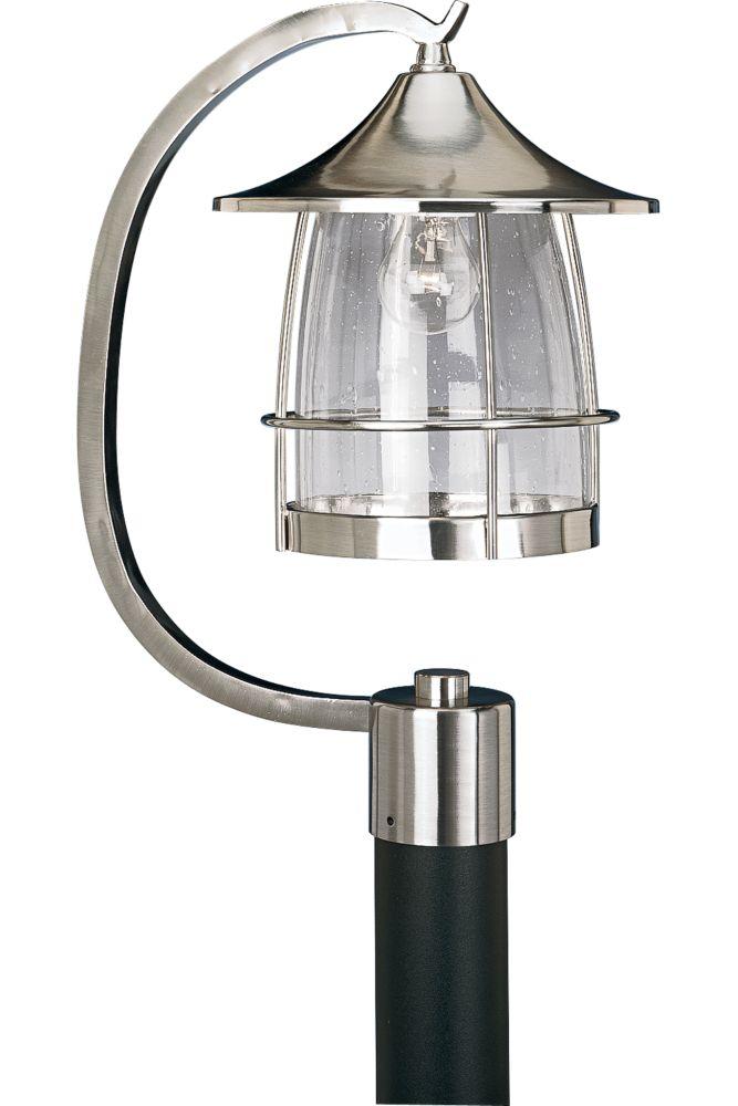 Prairie Collection Brushed Nickel 1-light Post Lantern